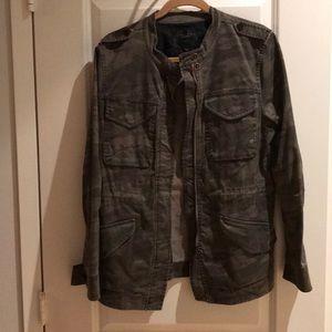 Sanctuary Fray camo jacket, size large